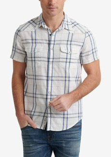 Lucky Brand Men's Woven Plaid Shirt