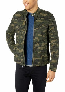 Lucky Brand Men's Zip UP CAMO Waxed Bonneville Jacket XXL