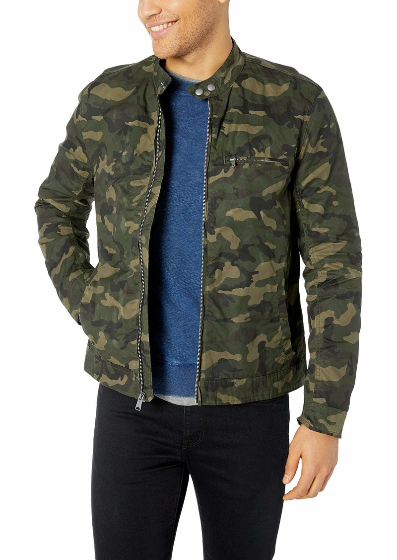 Lucky Brand Men's Zip UP CAMO Waxed Bonneville Jacket XXL
