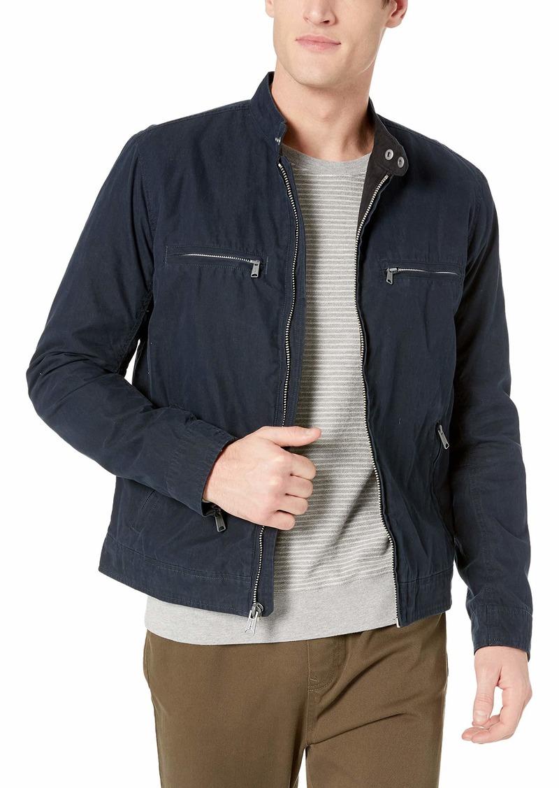 Lucky Brand Men's Zip UP Waxed Bonneville Jacket  L