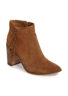 Lucky Brand Mercerr Pointy Toe Fringe Bootie (Women)