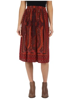 Lucky Brand Mirrored Batik Skirt
