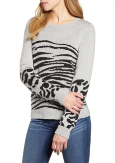 Lucky Brand Mixed Animal Sweater