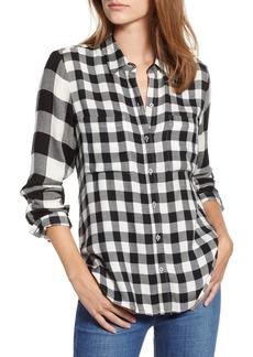 Lucky Brand Mixed Check Shirt