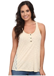 Lucky Brand Mixed Henley Tank Top
