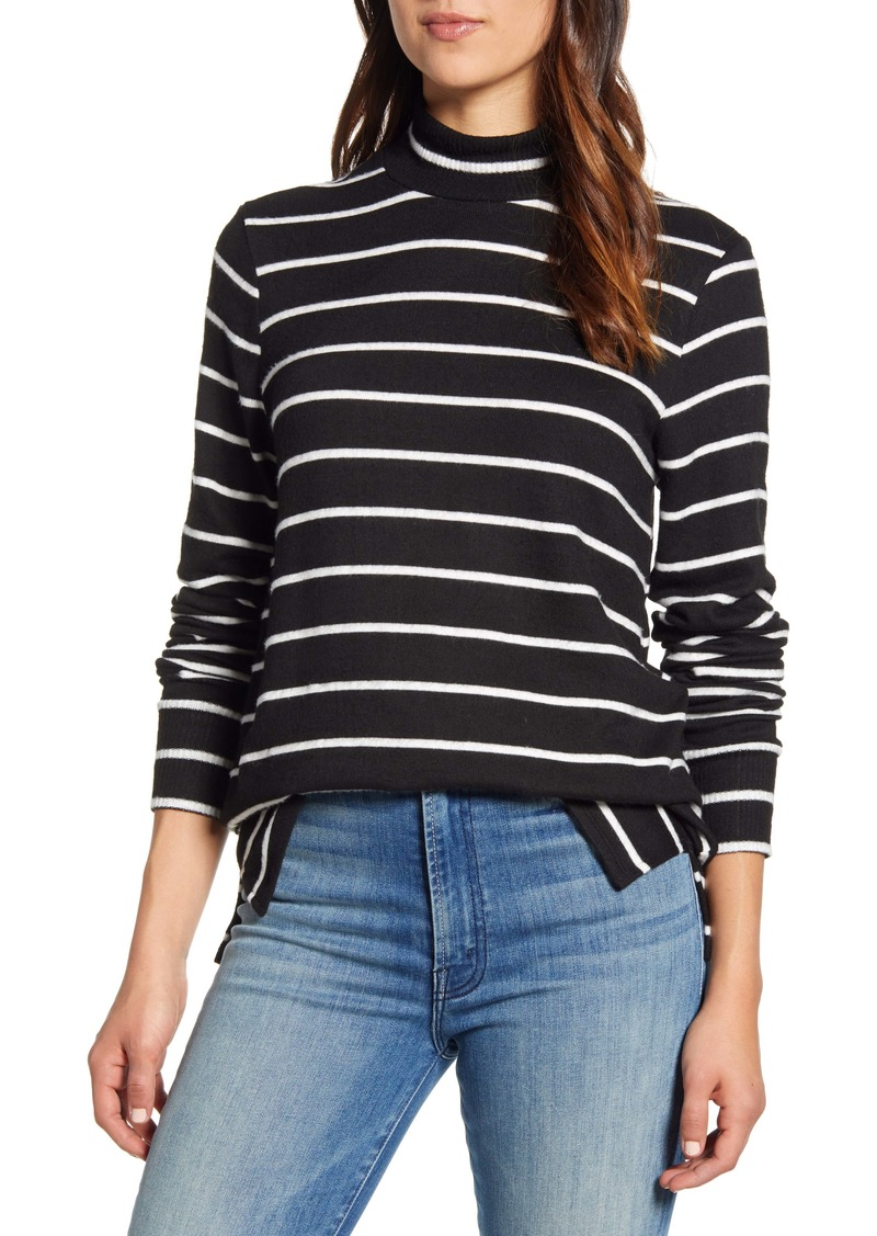 Lucky Brand Mock Neck Cloud Jersey Top