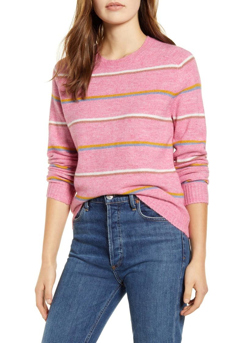 Lucky Brand Multistripe Crewneck Sweater