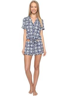 Lucky Brand Notch Collar Short Pajama Set