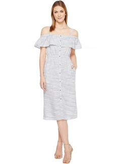 Lucky Brand Off Shoulder Midi Dress