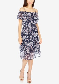 Lucky Brand Off-The-Shoulder A-Line Dress