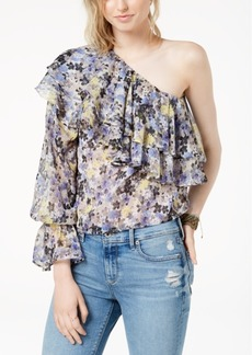Lucky Brand One-Shoulder Tiered Flounce Top