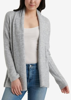 Lucky Brand Open-Front Light Weight Waterfall Cardigan