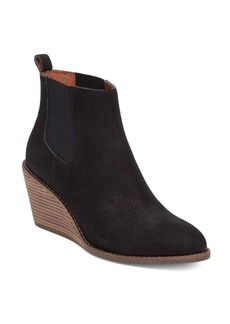 Lucky Brand Pallet Leather Wedge Ankle Boots
