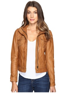 Lucky Brand Patch Pocket Leather Jacket