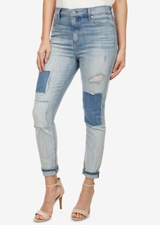 Lucky Brand Patched Skinny Jeans