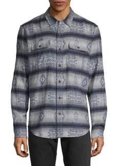 Lucky Brand Patterned Double Weave Shirt