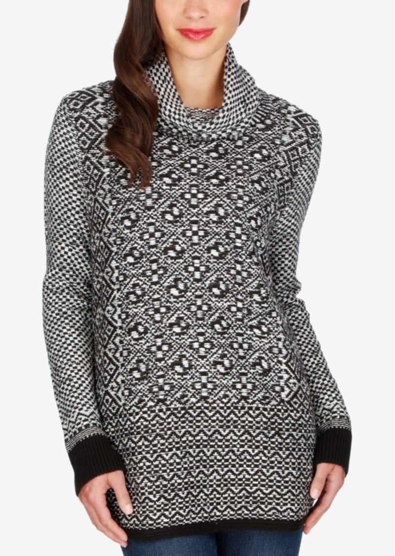 Lucky Brand Patterned Side-Zip Sweater