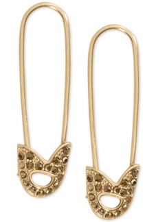Lucky Brand Pave Safety Pin Drop Earrings