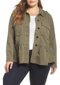 Lucky Brand Peplum Utility Jacket (Plus Size)