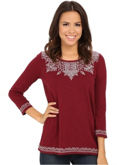 Lucky Brand Placed Embroidery Tee