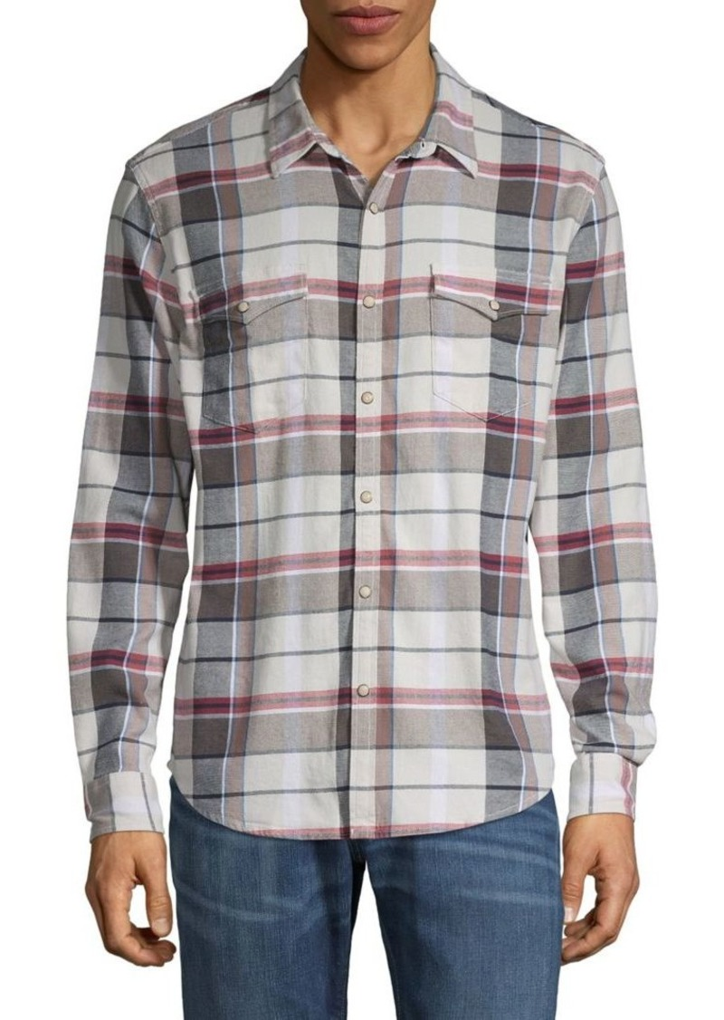 Lucky Brand Plaid Flannel Button-Down Shirt