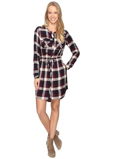 Lucky Brand Plaid Button Front Dress