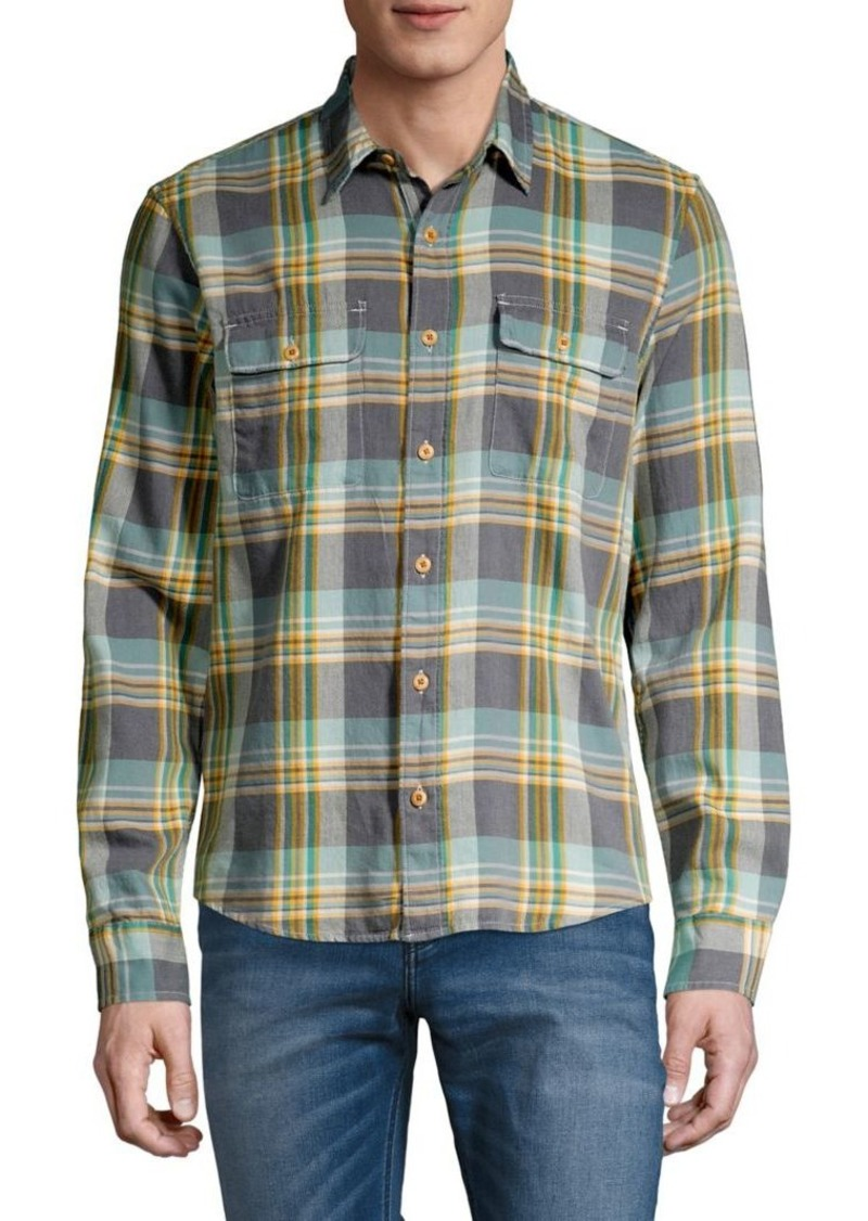 Lucky Brand Plaid Lightweight Button-Front Shirt