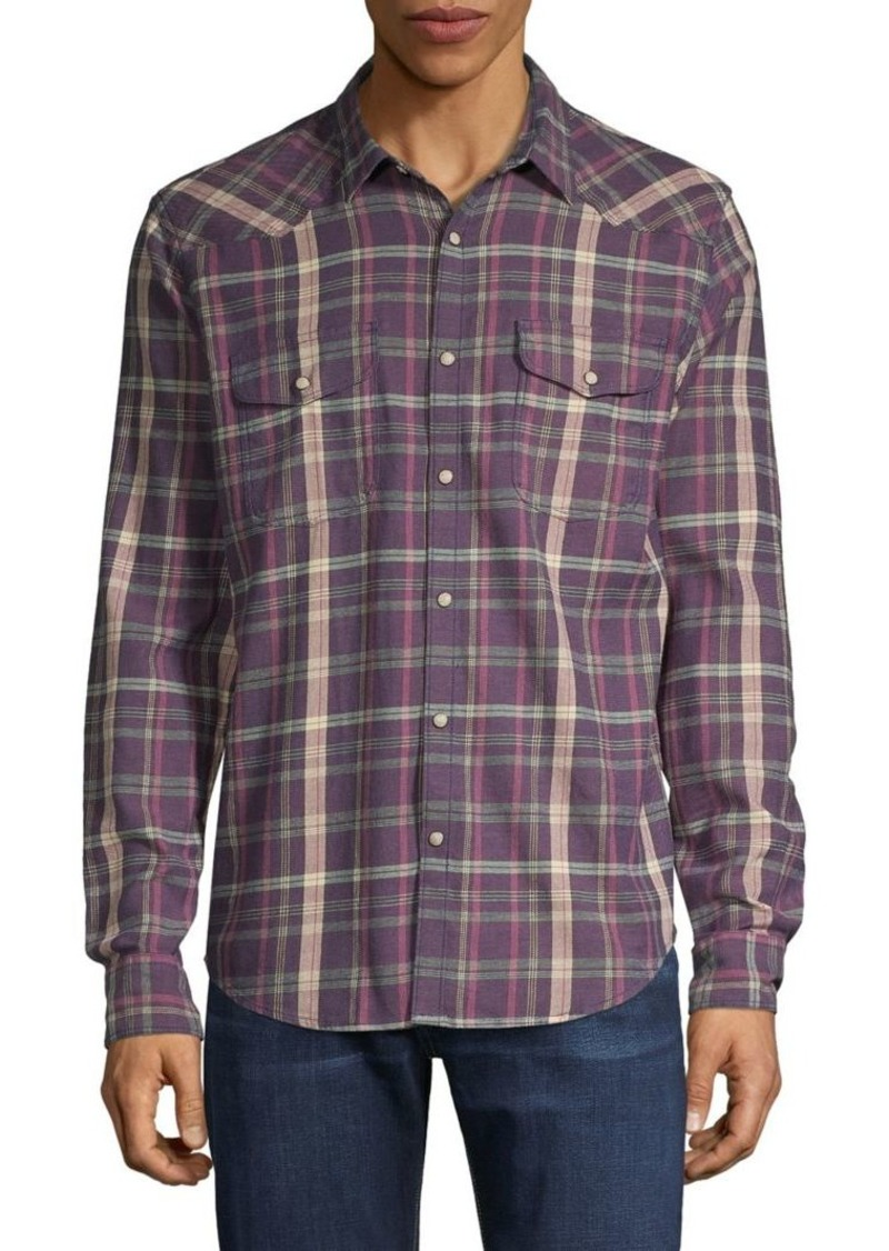 Lucky Brand Plaid Flannel Long-Sleeve Shirt
