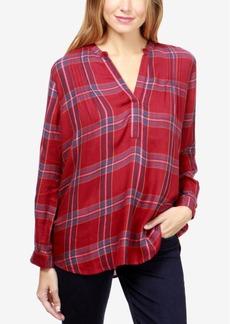 Lucky Brand Plaid Pintuck-Pleat Shirt