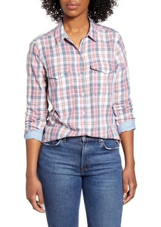 Lucky Brand Plaid Western Shirt