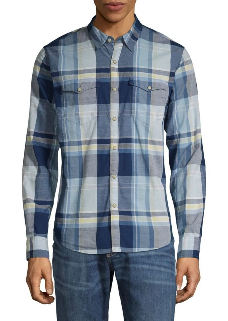 Lucky Brand Plaid Western Shirt