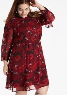 Lucky Brand Plus Bell Sleeve Dress