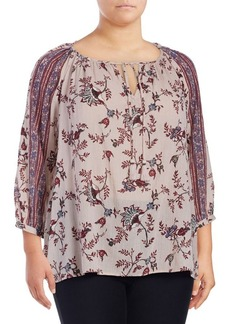 Lucky Brand Plus Boho Flowery Top