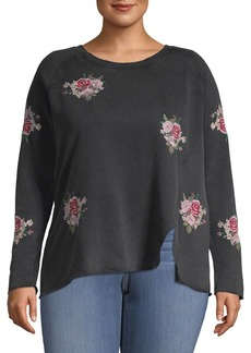 Lucky Brand Plus Floral Sweatshirt