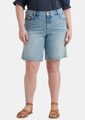 Lucky Brand Plus Size Georgia Embroidered Jean Shorts