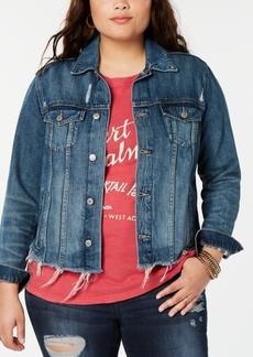 Lucky Brand Plus Size Glenwood Trucker Denim Jacket