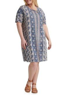 Lucky Brand Plus The Summer Printed T-Shirt Dress