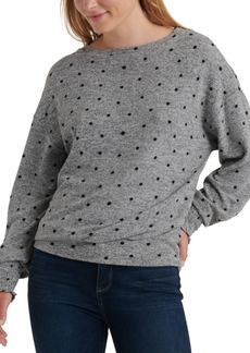 Lucky Brand Polka-Dot Cloud Jersey Knit Top