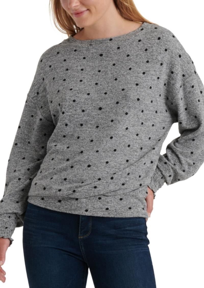 Lucky Brand Polka-Dot Cloud Jersey Knit Top