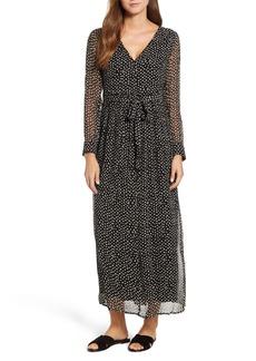 Lucky Brand Polka Dot Maxi Dress
