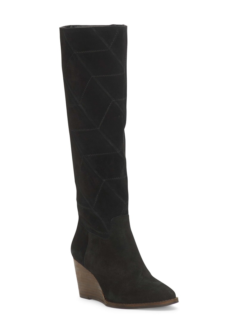 Lucky Brand Preeka Knee High Wedge Boot (Women)