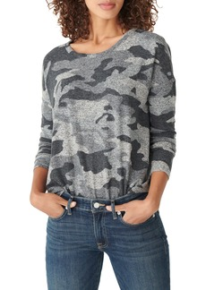 Lucky Brand Print Crewneck Pullover