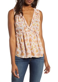 Lucky Brand Print Sleeveless Top