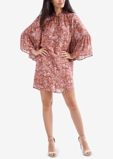 Lucky Brand Printed Bell-Sleeve Peasant Dress