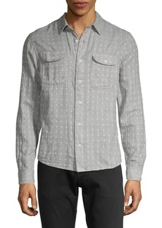 Lucky Brand Printed Button-Down Shirt