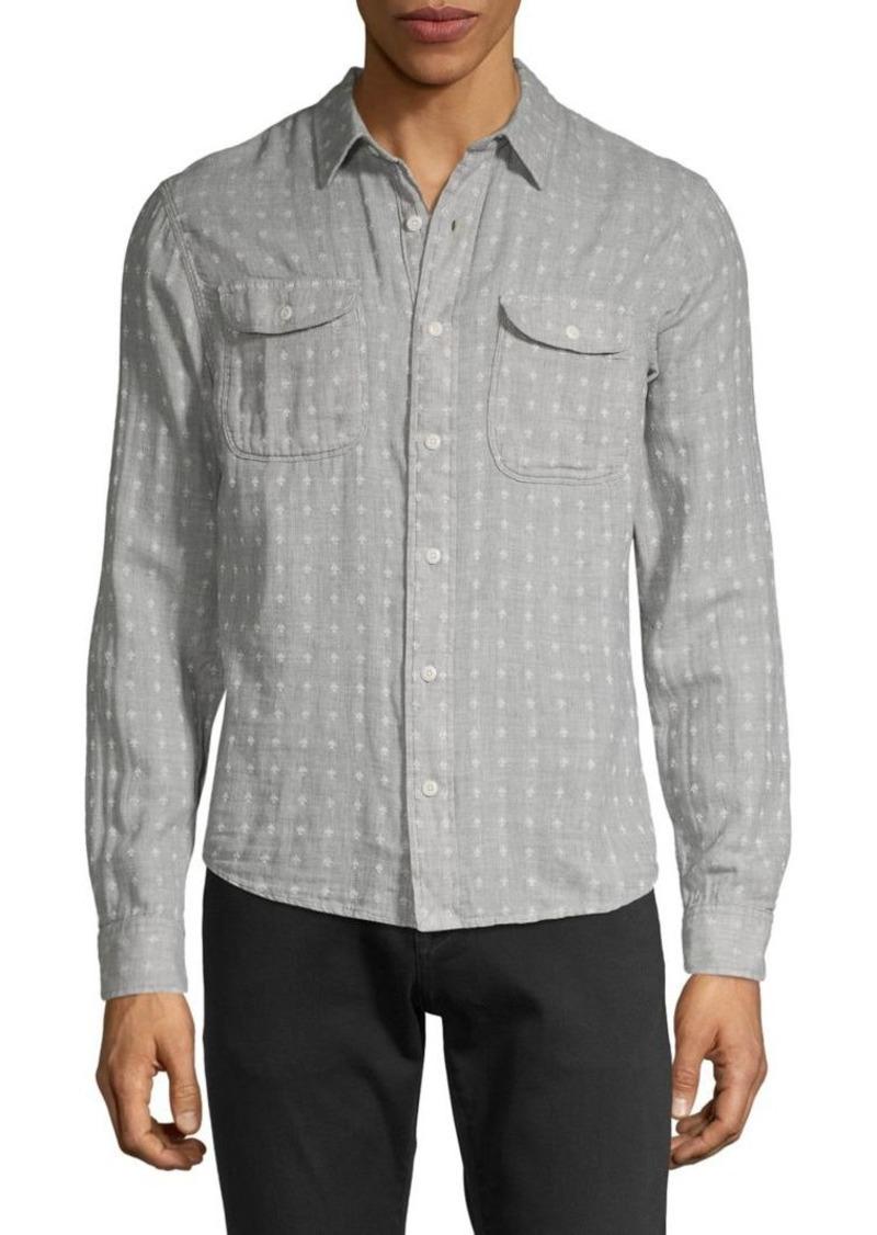 Lucky Brand Printed Button-Down Shirt