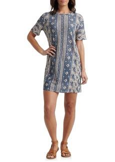 Lucky Brand Printed Cotton Blend T-Shirt Dress