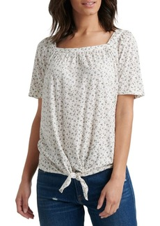 Lucky Brand Printed Cotton Blend Top