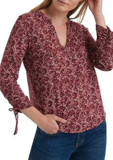 Lucky Brand Printed Cotton Blouse