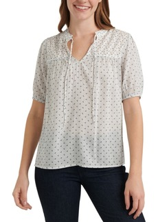 Lucky Brand Printed Cotton Top